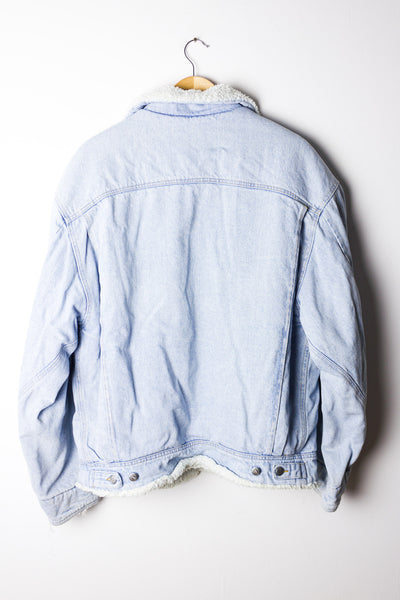 Vintage Denim Sherpa Jacket Size XL