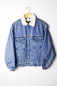 Vintage Denim Sherpa Jacket Size