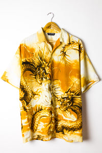 Vintage Dragon Graphic Shirt Size XL