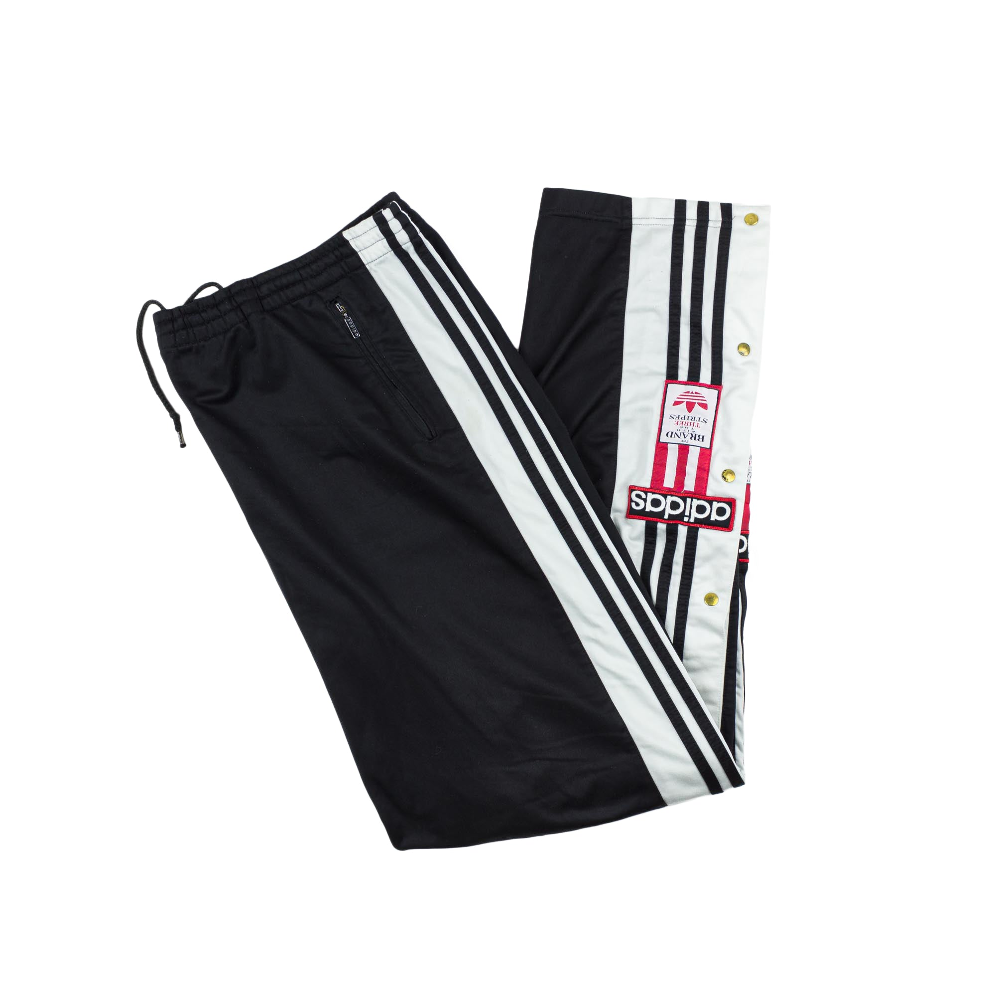 VINTAGE ADIDAS POPPER PANTS XL
