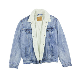 LEVI'S SHERPA DENIM JACKET L