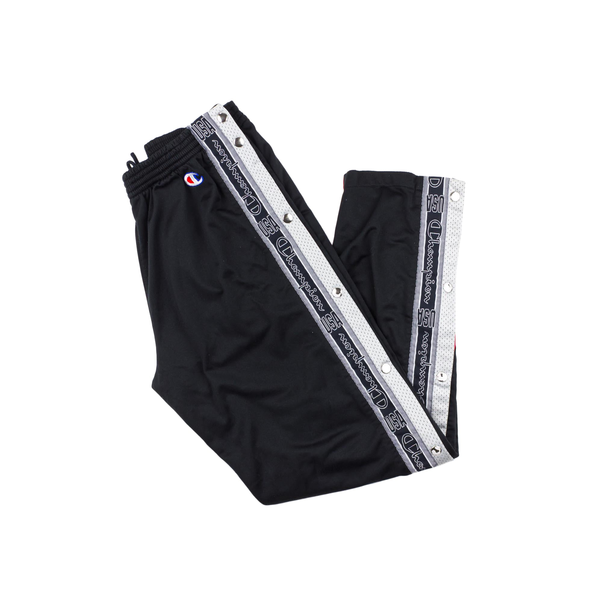 VINTAGE CHAMPION POPPER TRACKPANTS L