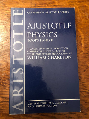 Aristotle Physics, Books I and II