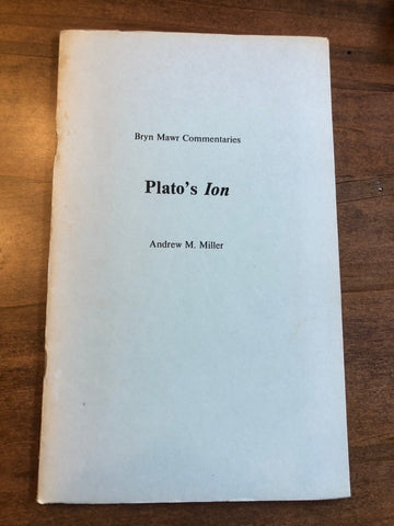 Plato's Ion (Bryn Mawr Commentaries)