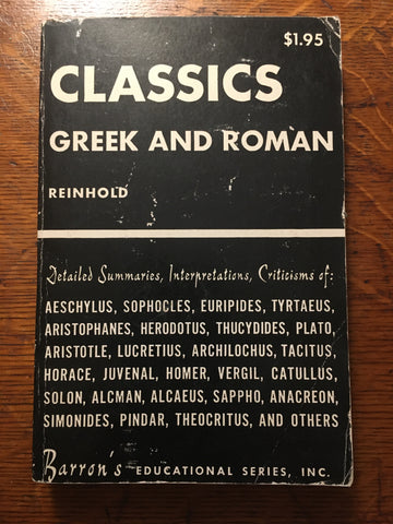 Classics Greek and Roman