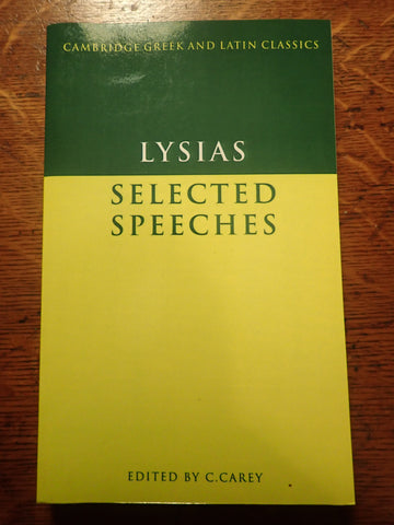 Lysias Selected Speeches [Green and Gold]