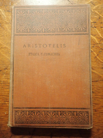 Aristotelis Ethica Nicomachea [Oxford Text]