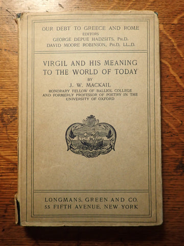 Virgil and His Meaning to the World of Today