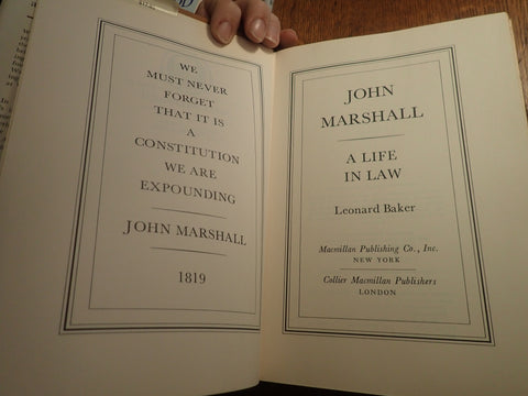 John Marshall: A Life in Law