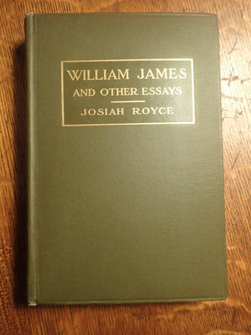 William James and Other Essays