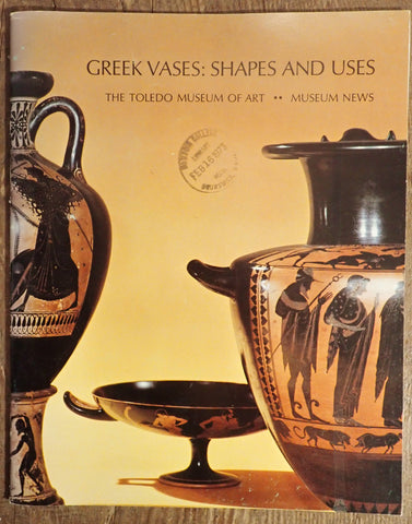 Greek Vases: Shapes and Uses