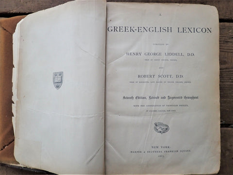 A Greek-English Lexicon [Liddell and Scott]