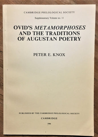 Ovid's Metamorphoses and the Traditions of Augustan Poetry