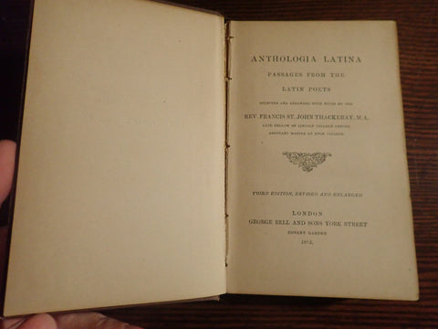Anthologia Latina: Passages from the Latin Poets