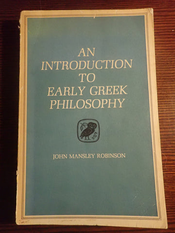 An Introduction to Early Greek Philosophy