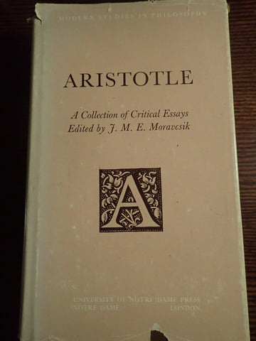 Aristotle: A Collection of Critical Essays