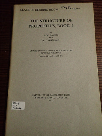 The Structure of Propertius Book 2