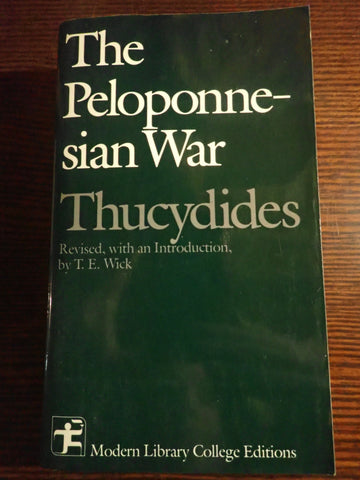 Thucydides' The Peloponnesian War