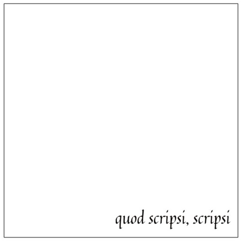 Quod Scripsi, Scripsi Sticky Notes
