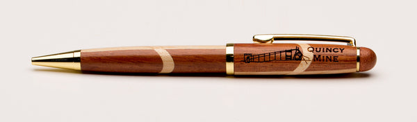 Quincy Mine Ink Pen/Rosewood and Maple