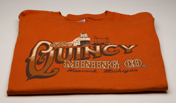 Adult Short Sleeve T-Shirt/Quincy Mining Company (2XL and 3XL)