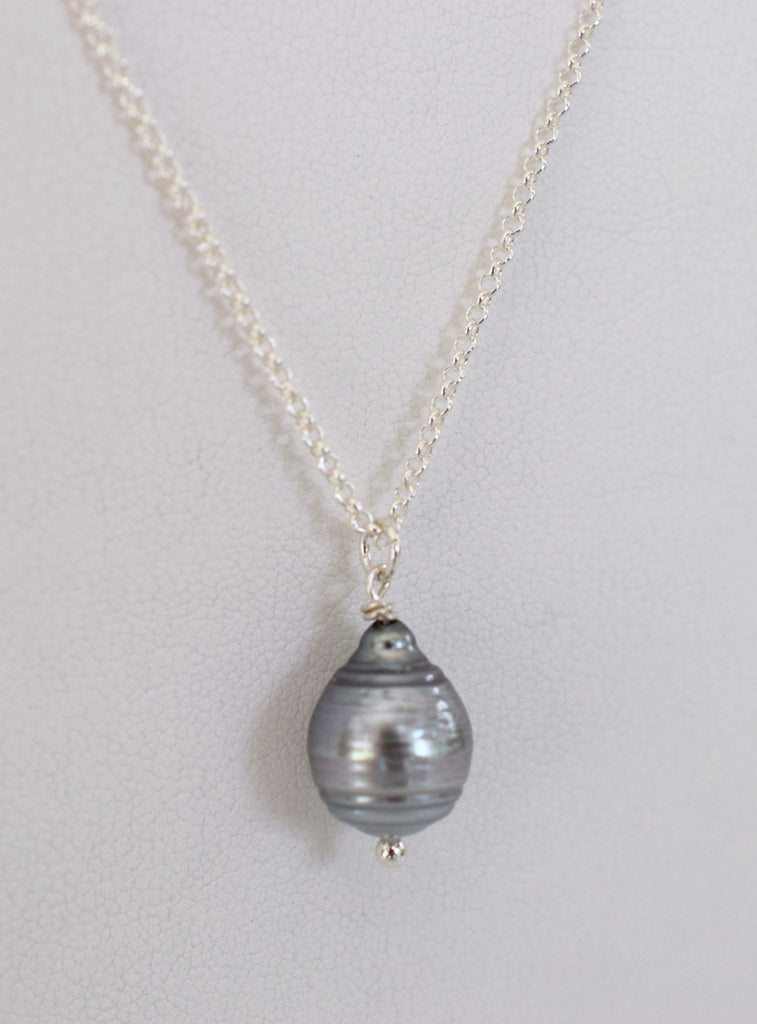 Silver Tahitian Pearl Necklace - MILK VELVET PEARLS