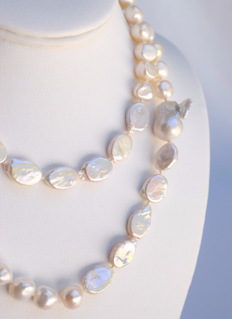 Mixed Baroque Pearl Rope Necklace - MILK VELVET PEARLS