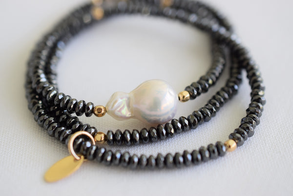 Convertible Flameball Pearl Necklace - MILK VELVET PEARLS