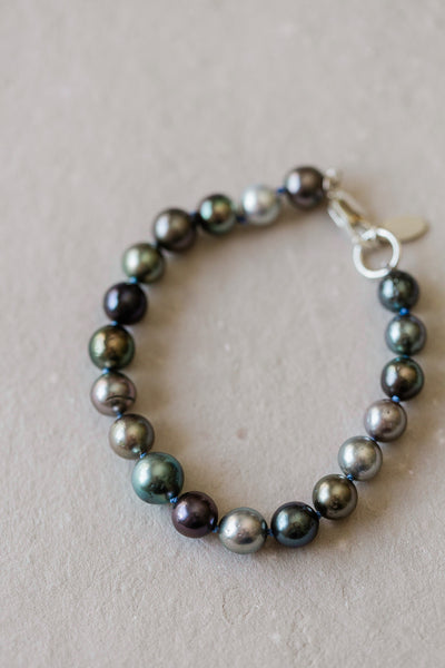 """Letting In The Light  II "" - Multi colored Tahitian Pearl Bracelet"