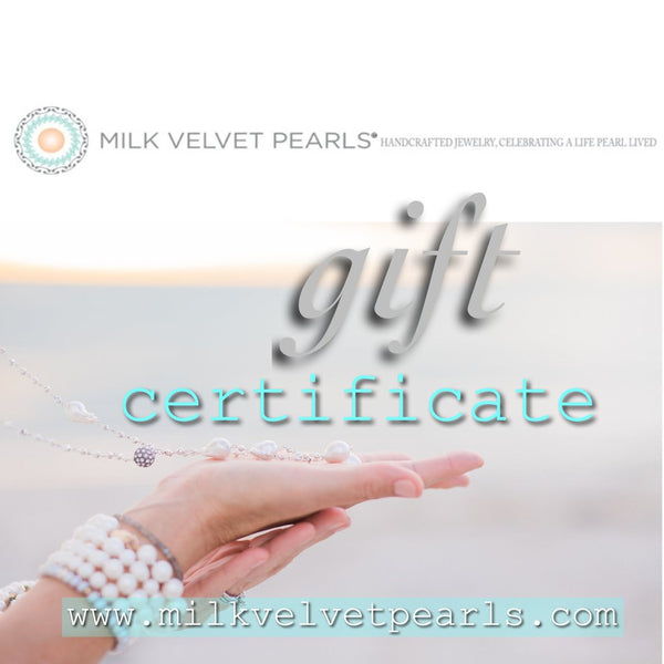 Digital Gift Card - MILK VELVET PEARLS