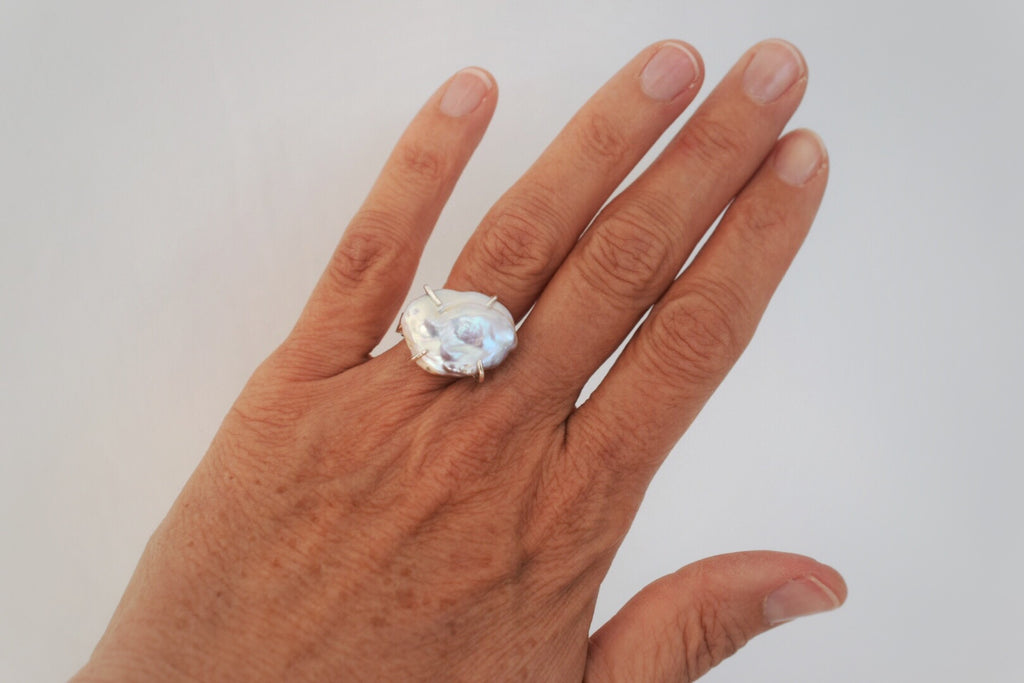Lilies of the Field Ring:Sterling Silver