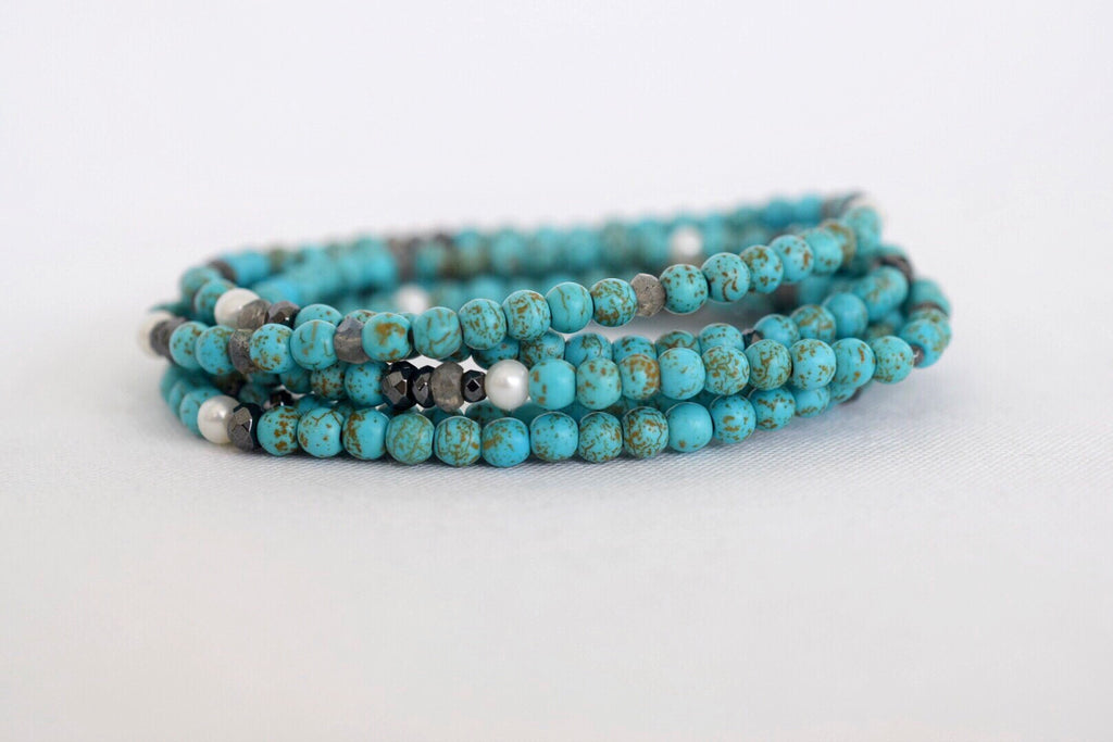 Turquoise Summer Convertible Bracelet / Necklace