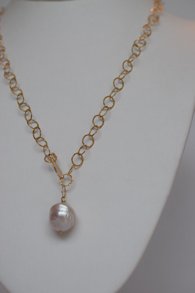 Baroque Saltwater Pearl Necklace ~ Parisian Inspired, 14k GF - MILK VELVET PEARLS