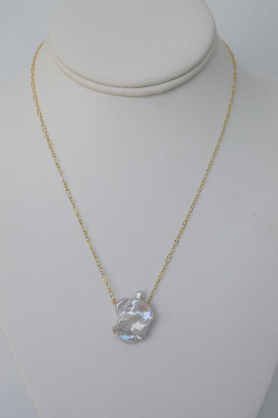 Keshi Pearl Necklace 001, One of a Kind, 14k Gold Filled