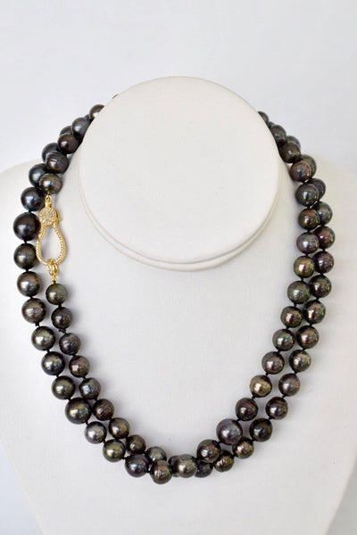 Black Tahitian Pearl Necklace, 37""