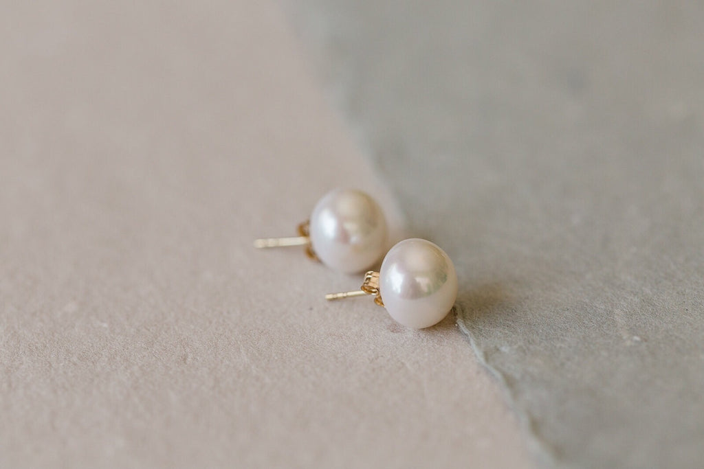 Baroque Freshwater Pearl Stud Earrings