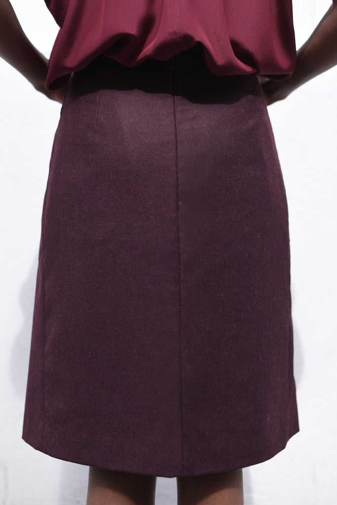 FLOC SKIRT BORDEAUX