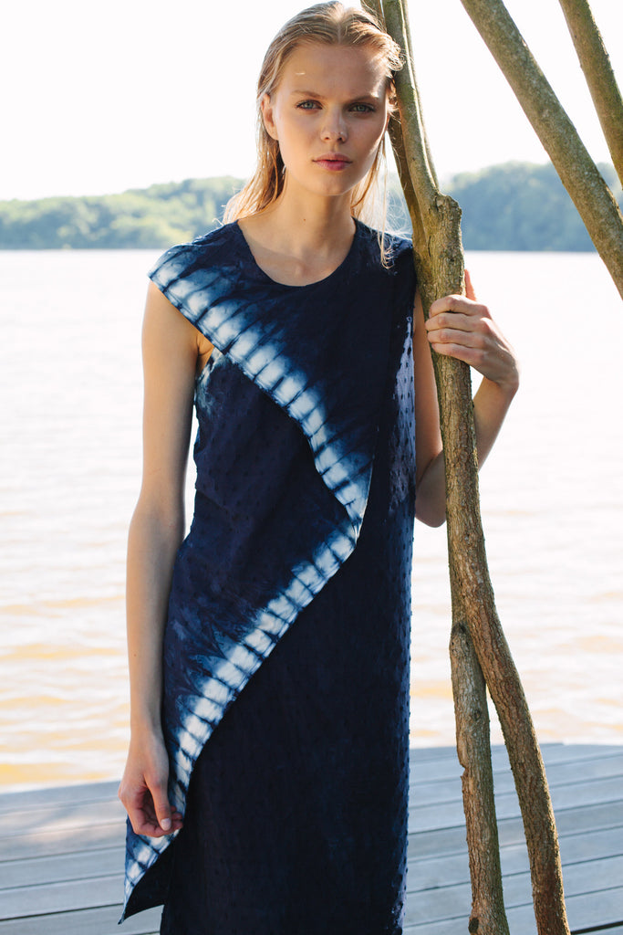 CRUBA - BERLIN DEEP SEA DRESS | shop fashion in Berlin Mitte Auguststrasse 28 German Fashion Design onlineshop