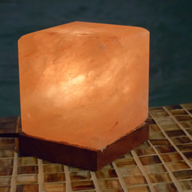 Crafted Salt Lamps - Cube (approx. 8.5 lbs)