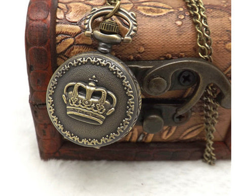 Antique Vintage Crown Pocket Watch Chain For Women