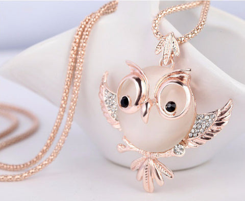 Chubby Owl Trendy Necklace