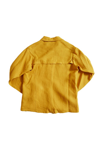 Bee Yellow Linen Work Shirt