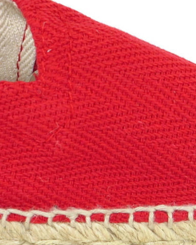 El Clasico Red Cotton Canvas Espadrilles