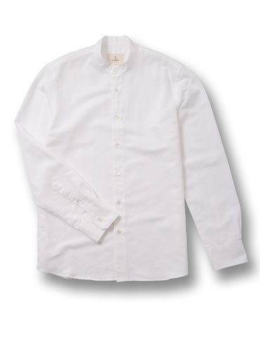La Paz Collarless White Vieira Shirt
