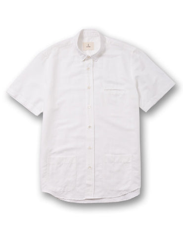 La Paz White Short Sleeve Castro Shirt
