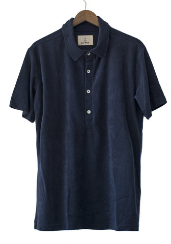 La Paz Leao Navy Terry Towel Tee