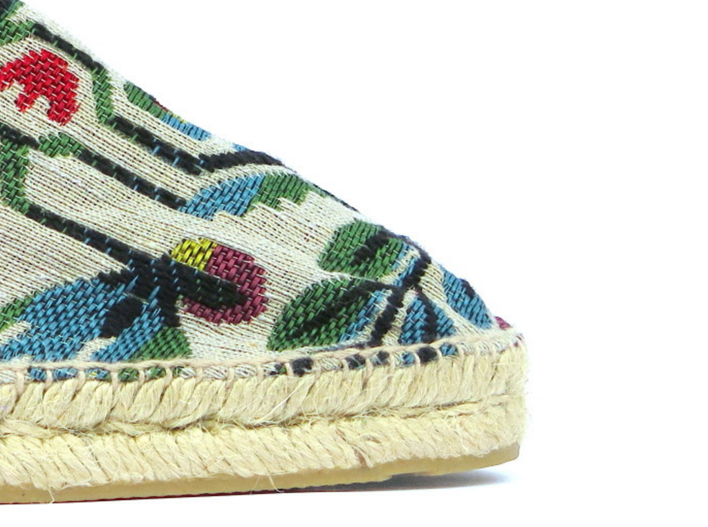 Spanish Garden Cotton Canvas Espadrilles