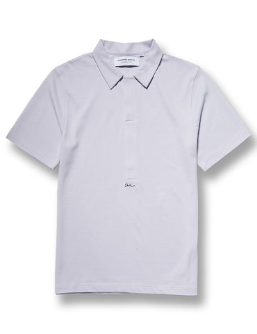 L'Homme Rouge Dried Magenta Pique Polo