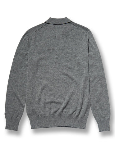 Wolsey Long Sleeve Grey Merino Polo