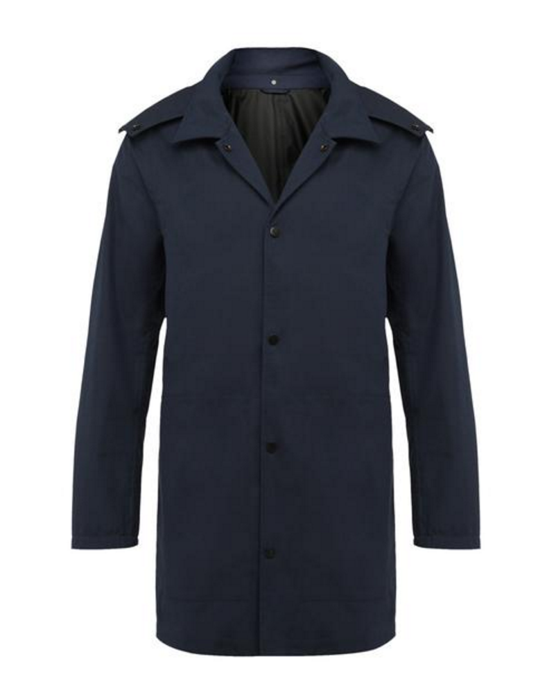 Wolsey Hooded Mac in Navy
